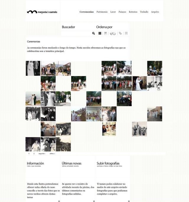 Captura de pantalla de la web de Castrelo de Miño